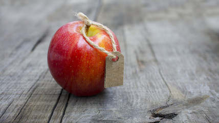 Red Apple with a Price Label