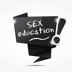 origami speech bubble : sex education
