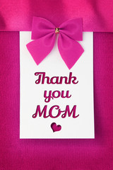 Thank you mom message on greeting card