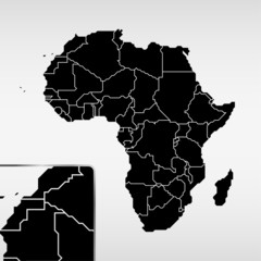 Fototapete - Abstract simple Africa map - EPS10 vector design