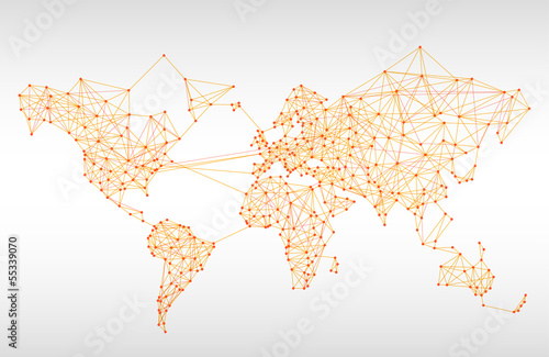 Abstract telecommunication world map stock image and royalty free abstract telecommunication world map gumiabroncs Image collections