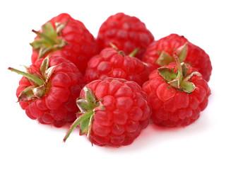 Ripe sweet raspberries