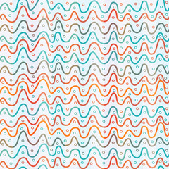 abstract colored lines seamless pattern