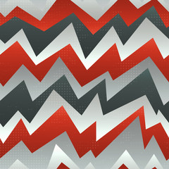 Poster ZigZag abstract red zigzag seamless pattern with grunge effect