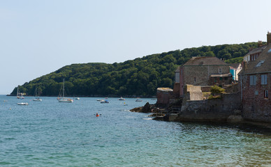 Wall Mural - View of Cawsand and Kingsand coast Cornwall England