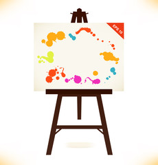 Artistic empty canvas