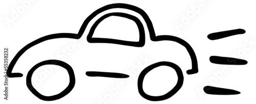Auto Zeichnung abstrakt\