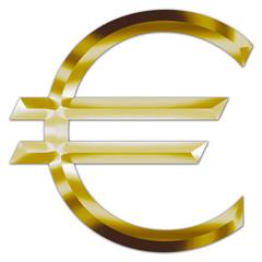 euro metallic logo symbol