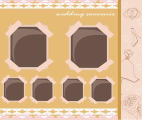 Vintage wedding album design