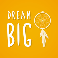 Dream big and mustard background