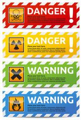 Danger banner 4 color version collection