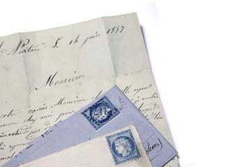 vieux courrier du 19e siècle