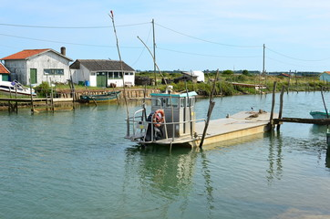 La Tremblade,  Oyster farming harbour, Charente Maritime, France