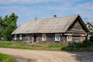 An old historical house in Lithuanian village.