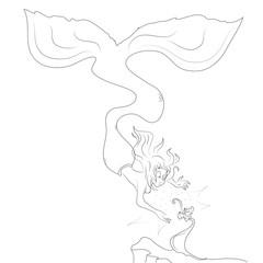 vector mermaid silhouette