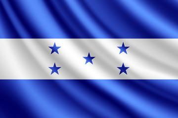 Waving flag of Honduras, vector