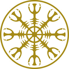 Aegishjalmur, Helm of Awe, Magisches Amulett, Runen
