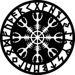 Runen Amulett, Aegishjalmur, Helm of Awe