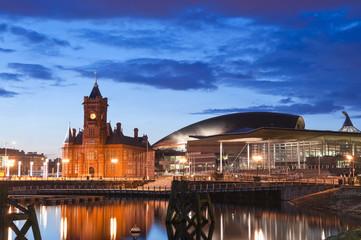 Cardiff Bay Cityscape Fototapete