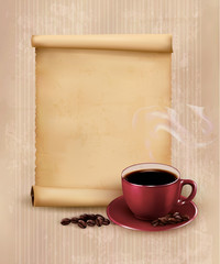 Retro Menu for restaurant. Coffee design template. Vector illust