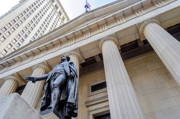 Federal Hall, New York City Wall mural