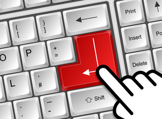 Tastatur Enter rot