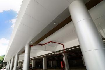 Circular Column of Composite Aluminium Cladding install in Chian