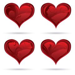 4 Heart set