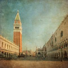 Vintage image of Piazza San Marco
