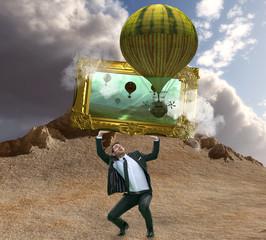 balloon - frame on the world