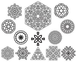 Set of celtic knot symbols, design elements