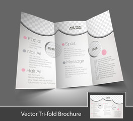Tri-Fold Salon Brochure Design Back