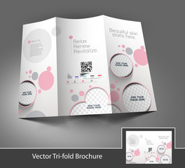 Tri-Fold Salon Brochure Design Front