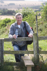 Mature Man On Country Walk