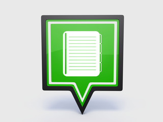 notebook pointer icon on white background