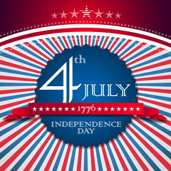 Independence Day card - vector format illustration