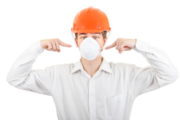 Man in the Mask and Hard Hat