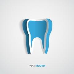 Sticker paper Tooth  - Vector Illustrati