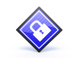 protect rectangular icon on white background