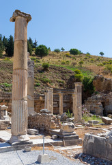 Remains of the basilca stoa, Ephesus, Turkey