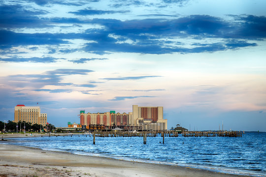 Biloxi, Mississippi, casinos and buildings