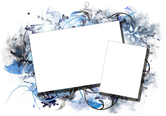 Blue abstract photo frame