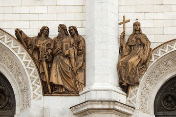 The bas-relief of the temple of Christ the Savior in Moscow