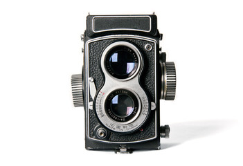 Antica macchina fotografica biottica