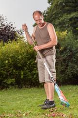 Gardeners work