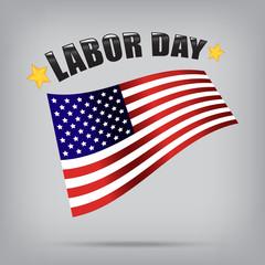 labor day american vector