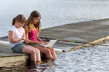 Girls choose social media instead fishing