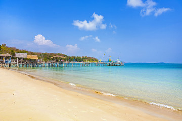 beautiful tropical empty beach