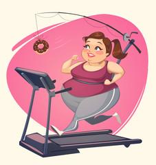 Fat girl is running