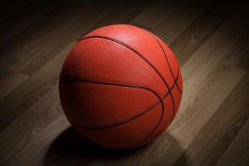 closeup of basketball ball